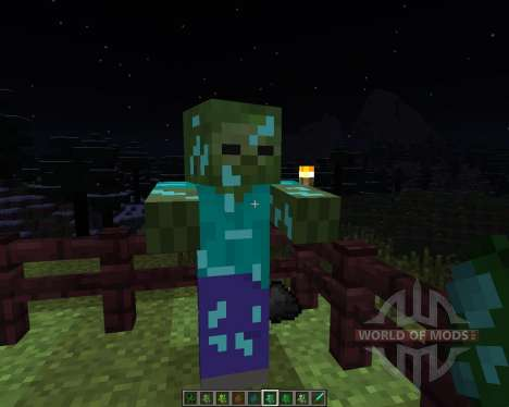 Ore Zombies [1.6.4] for Minecraft