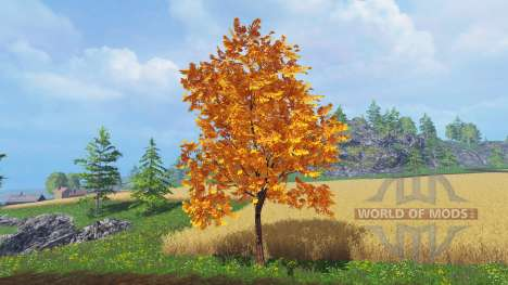 Autumn trees for Farming Simulator 2015