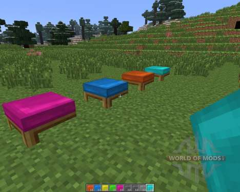 Dyeable Beds [1.6.4] for Minecraft