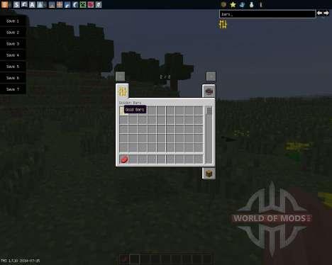Golden Bars [1.7.10] for Minecraft