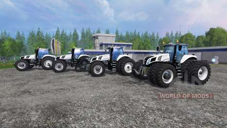 New Holland T8 [pack] v1.5 for Farming Simulator 2015