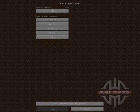 Better World Generation 4 [1.7.2] for Minecraft
