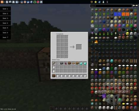 Extended Workbench [1.7.2] for Minecraft