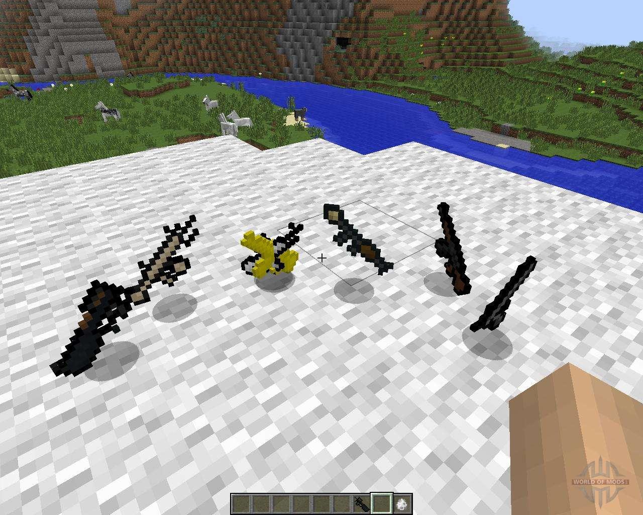 мод на 3d оружие в майнкрафт 1.6.4 #3
