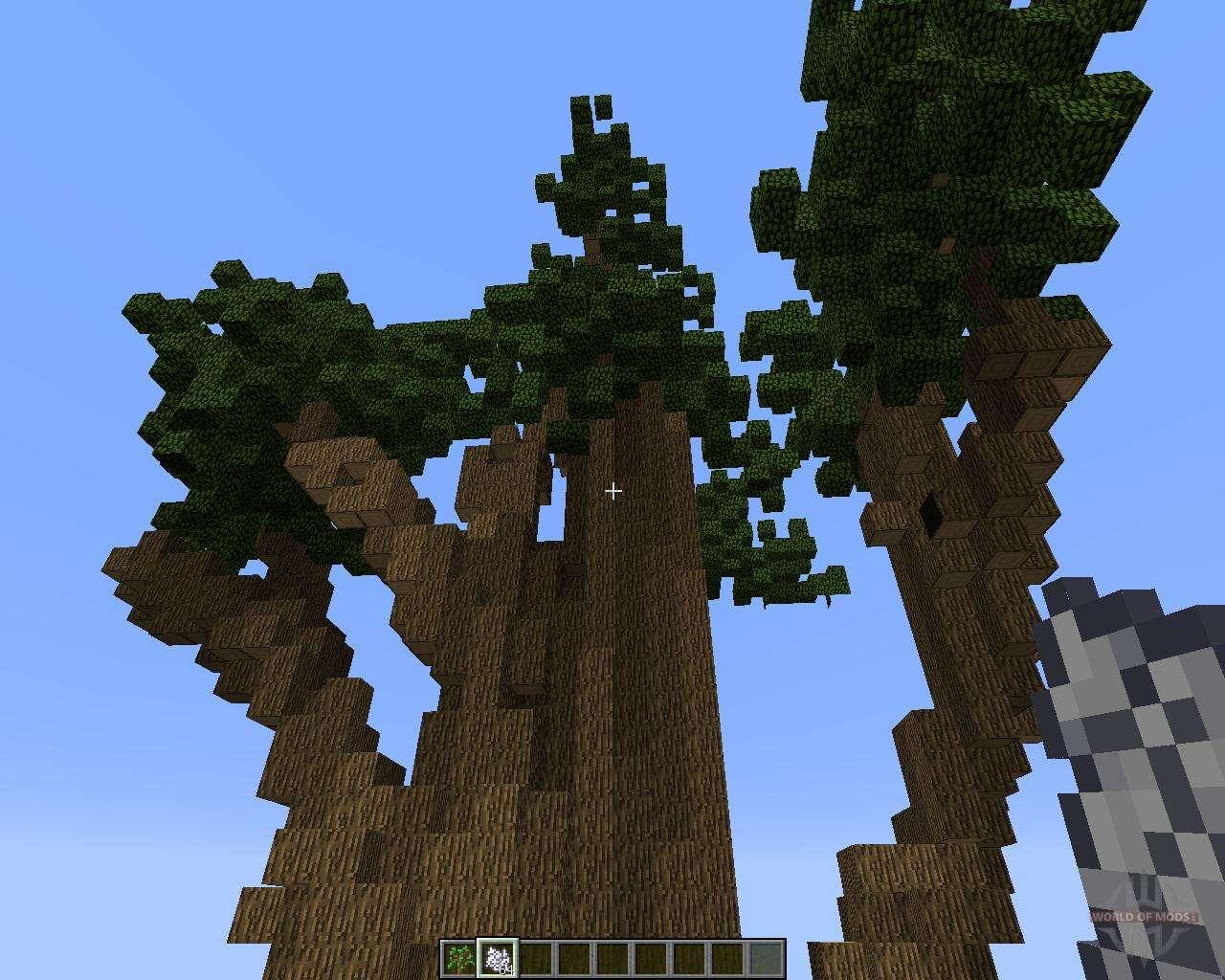 большие деревья мод 1.8.0 майнкрафт #7