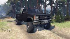 Chevrolet Regular Cab Dually black for Spin Tires