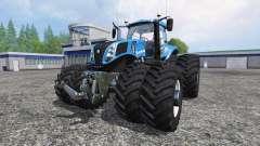 New Holland T8.320 Dynamic8 v1.1 blue for Farming Simulator 2015