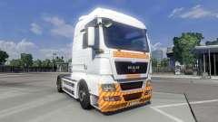 Skin Schwertransport on the truck MAN for Euro Truck Simulator 2