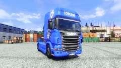 Skin V8 Topline on the tractor unit Scania for Euro Truck Simulator 2