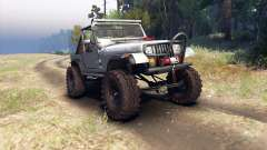 Jeep YJ 1987 Open Top silver for Spin Tires