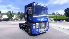 Skin Blue Dream on the tractor unit Renault Magnum for Euro Truck Simulator 2