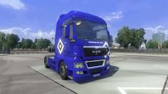 The skin Hamburg fahrt MAN on the truck MAN for Euro Truck Simulator 2