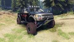 Ford Raptor Pre-Runner v1.1 blackwater for Spin Tires