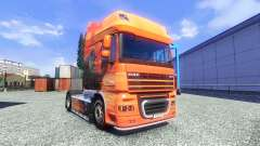 The Lowe skin for DAF XF tractor unit for Euro Truck Simulator 2