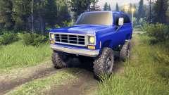 Chevrolet K5 Blazer 1975 v2.5 blue for Spin Tires