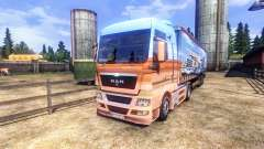Skin Showtruck on the truck MAN for Euro Truck Simulator 2