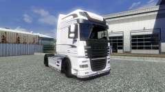 Skin White Edition for DAF XF tractor unit for Euro Truck Simulator 2