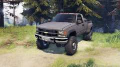 Chevrolet Regular Cab Dually gray for Spin Tires