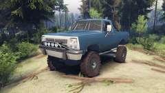 Dodge Ramcharger 1991 Open Top v1.1 light blue for Spin Tires