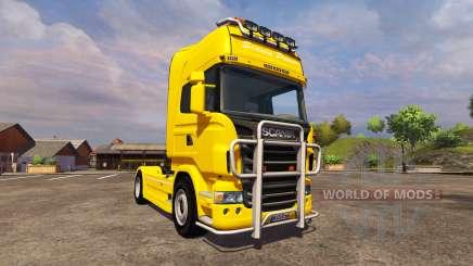 Scania R560 yellow for Farming Simulator 2013
