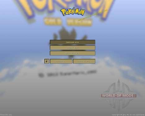 Pokemon Gold [16х][1.8.1] for Minecraft