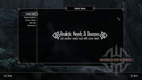 Realistic needs and diseases [1.9.9] for Skyrim