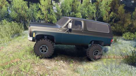 Chevrolet K5 Blazer 1975 black and blue for Spin Tires