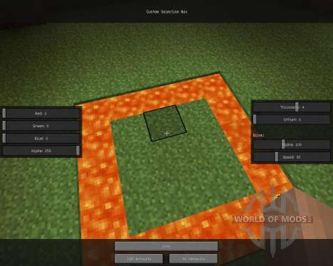Custom Selection Box [1.6.2] for Minecraft