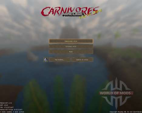 Carnivores Resource Pack [128x][1.7.2] for Minecraft