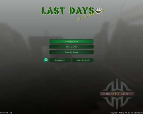 LAST DAYS [32x][1.8.1] for Minecraft