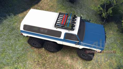Chevrolet K5 Blazer 1975 Equipped blue and white for Spin Tires