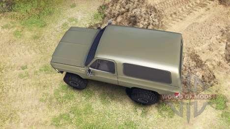 Chevrolet K5 Blazer 1975 army green for Spin Tires