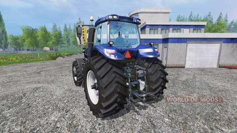 New Holland T8.320 blue black wavy v2.0 for Farming Simulator 2015