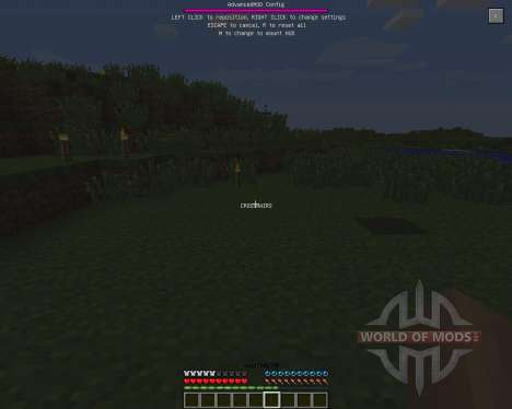 Advanced HUD [1.6.2] for Minecraft