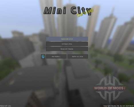 ASLs Mini City [32х][1.8.1] for Minecraft