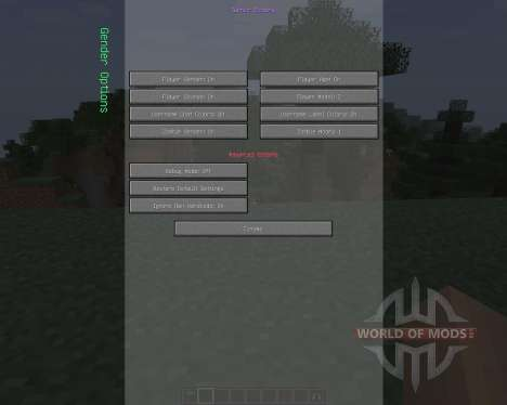 Female Gender Option [1.7.2] for Minecraft