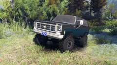 Chevrolet K5 Blazer 1975 black and blue for Spin Tires
