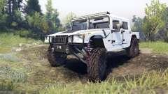 Hummer H1 white for Spin Tires