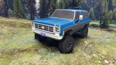 Chevrolet K5 Blazer 1975 blue and black for Spin Tires