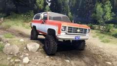 Chevrolet K5 Blazer 1975 orange and white for Spin Tires
