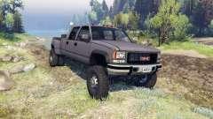 GMC Suburban 1995 Crew Cab Dually gray for Spin Tires
