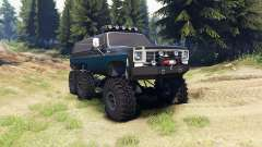 Chevrolet K5 Blazer 1975 Equipped black and blue for Spin Tires