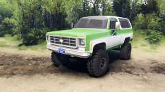 Chevrolet K5 Blazer 1975 green and white for Spin Tires