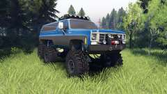Chevrolet K5 Blazer 1975 Equipped blue and black for Spin Tires
