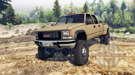 GMC Suburban 1995 Crew Cab Dually tan for Spin Tires