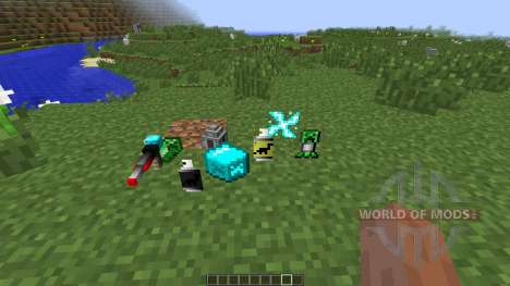 Laser Creeper Robot Dino Riders [1.7.10] for Minecraft
