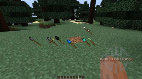 Throwing Spears [1.7.10] for Minecraft