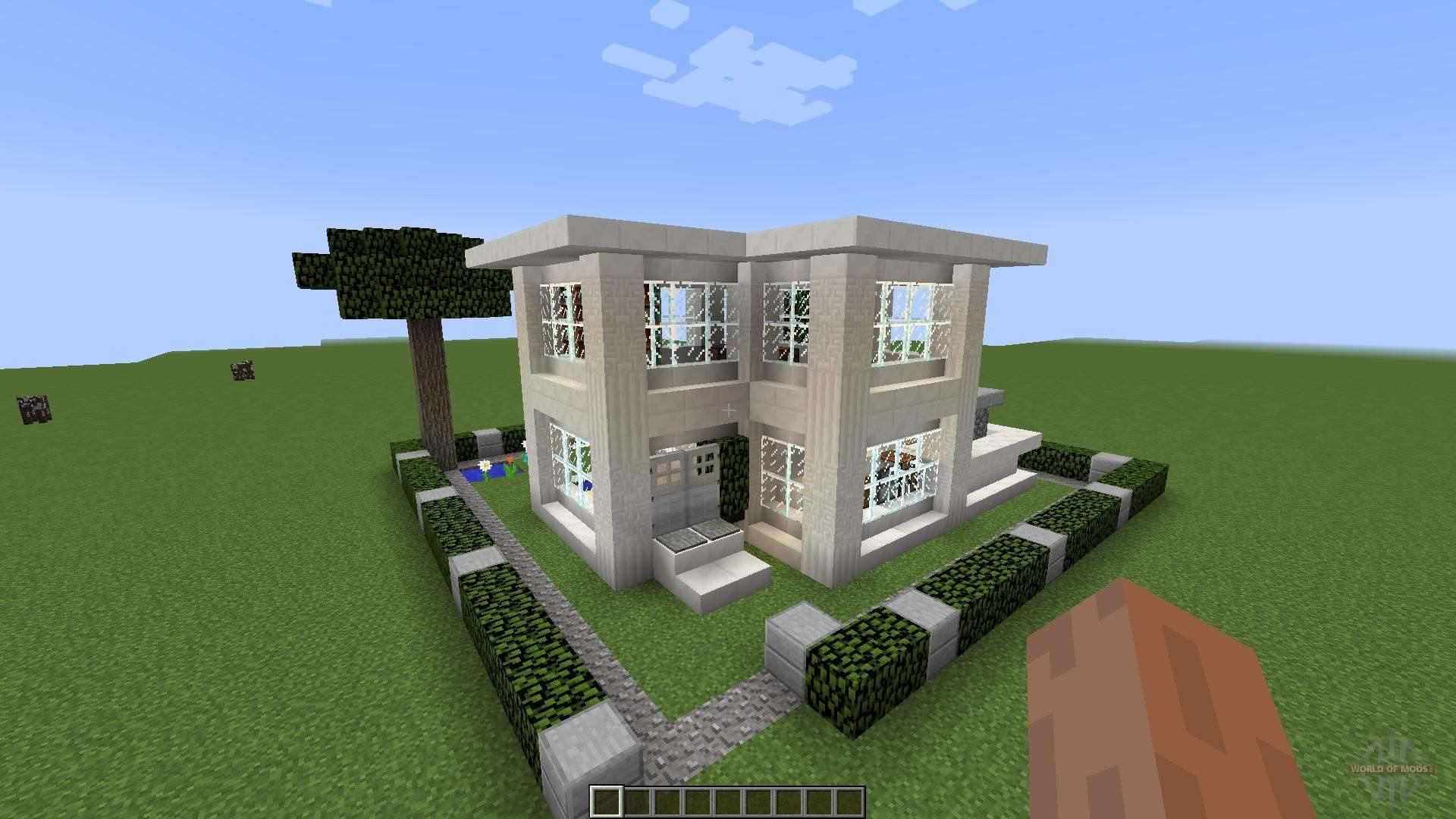 Small modern house 1 8 1 8 8 for minecraft for Modern house map