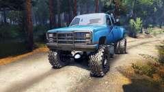 Chevrolet Silverado Dually Crew Cab v1.4 blue for Spin Tires