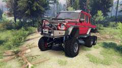 Mercedes-Benz G65 AMG 6x6 Final lemans red for Spin Tires